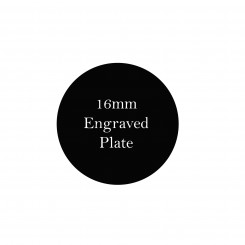 16mm Engraved Personalised Plate - To fit 2.5cm Lockets