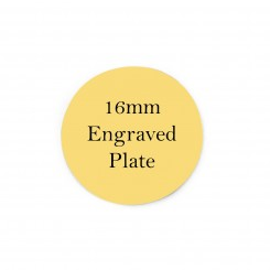 16mm Engraved Personalised Plate - Gold Filled - To fit 2.5cm Lockets