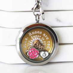 Love Quote Locket - Choose Your Own Quote