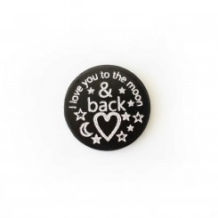 I love you to the moon & back - 2.5cm plate