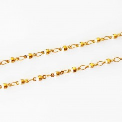 Ball Link Necklace - 28 inches (71cm) - Gold Tone