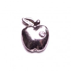 Silver Apple with Crystal