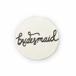 Bridesmaid Plate - Silver Tone