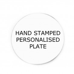 Personalised Hand Stamped Plate