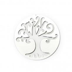 Tree of Life Window Plate - Silver Tone