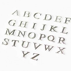 Uppercase Letters - Silver Tone