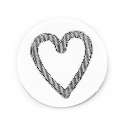 Engraved Heart Plate