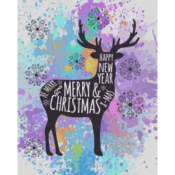 Deer Christmas Print (Jpeg File Only) 8x10 inch