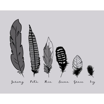 Feather Family (Jpeg only) 8x10