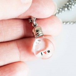 I Love You - Grain of Rice Pendant
