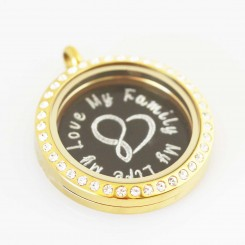 My Family My Life My Love - Locket and Plate Set - 3cm