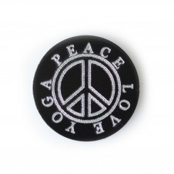 Peace Love Yoga - Engraved Plate