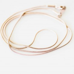 Snake Chain - Rose Gold - 22 inch (56cm)