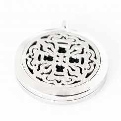 Perfume/Essential Oil Locket - Ornate Design - Silver Tone