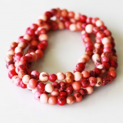 Pink Acai Seed Necklace - 55 inches (140cm)