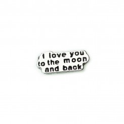 I Love you to the Moon & Back Charm