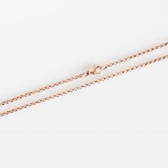 "Rolo Necklace - 22"" (56 cm) Rose Gold Tone"
