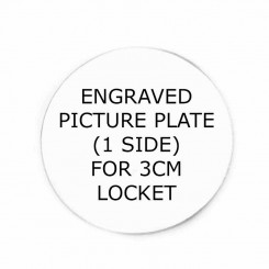 One Sided Picture Plate - to fit 3cm wide Lockets