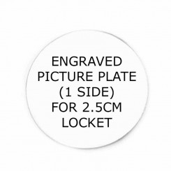One sided Picture Plate - to fit 2.5cm wide Lockets