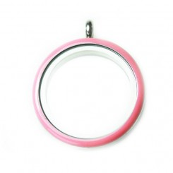 Pink Rim Screw Top Locket