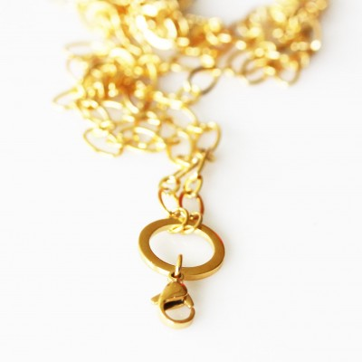 Cable Necklace - Gold Tone - 30 inch