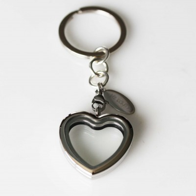 Heart Locket Key Ring