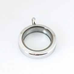 Small Silver Magnetic Locket