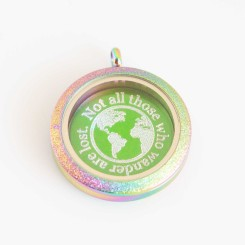 Not all those who wander are lost - Locket and Plate Set
