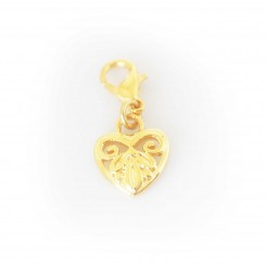 Gold Tone Heart Dangle