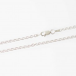 2.4mm Cable, 20 inch (50.8cm), Sterling Silver.