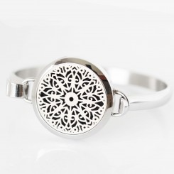 Perfume/Essential Oil Locket - Bangle - Mandala Design