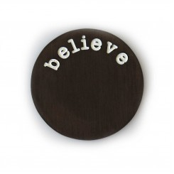 Believe Plate - Black