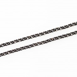 4mm Rolo Necklace - 24 inch (61cm) - Black Tone