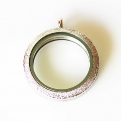 Silver Stardust Edge - Magnetic Locket