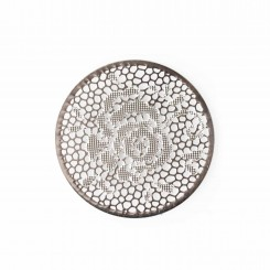 Rose Window Plate - Silver Tone