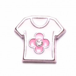 Shirt with Pink Flower