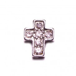 Silver Cross with Sparkles