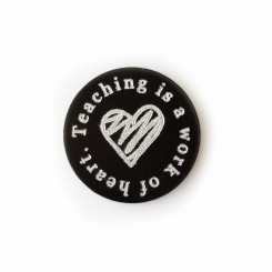 Teachng is a work of heart - Plate - to fit 3cm locket
