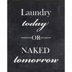 Laundry Today or Naked Tomorrow (jpeg file only) 8x10 inch