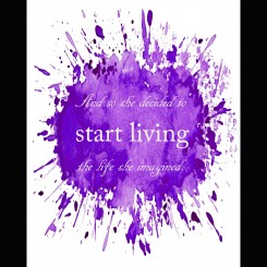 Start Living (jpeg file only) 8x10 inch