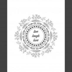 Live Laugh Love (jpeg file) 8x10 inch