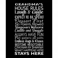 Grandparents House Rules (jpeg file) 8x10