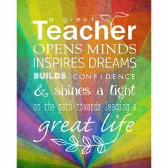 A great teacher - Rainbow colours - (jpeg file only) 8x10 inch