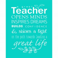 A great teacher (jpeg file only) 8x10 inch