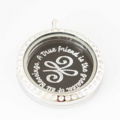 A True Friend - Plate and Locket Set
