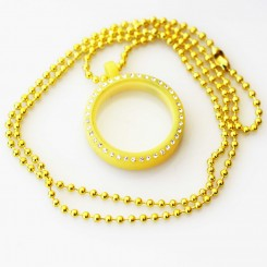Kids Locket & Necklace Set - Yellow