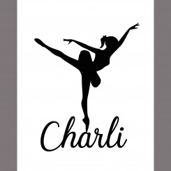 Ballerina Name Print (jpeg file only) 8x10 inch