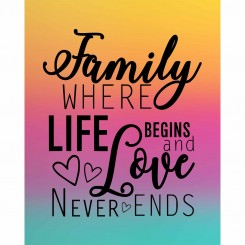 Family Where Life Begins & Love Never Ends (jpeg file) 8x10 inch
