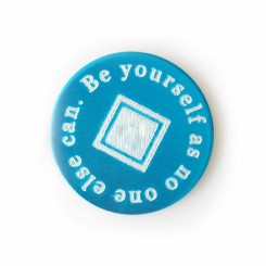 Be Yourself As No One Else Can - Plate to fit a 3cm locket