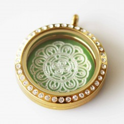 Beautiful Mandala - Locket & Plate Set - 3cm